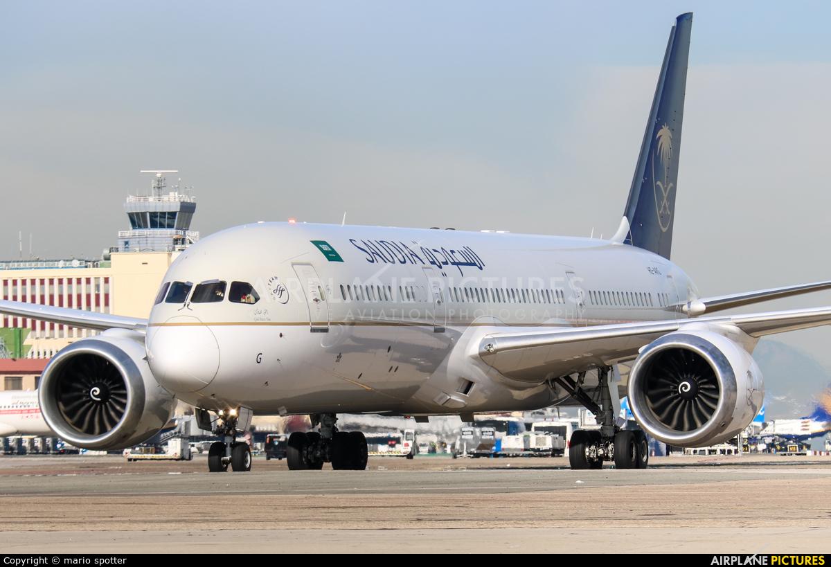 Saudi Arabian Airlines HZ-ARG aircraft at Madrid - Barajas