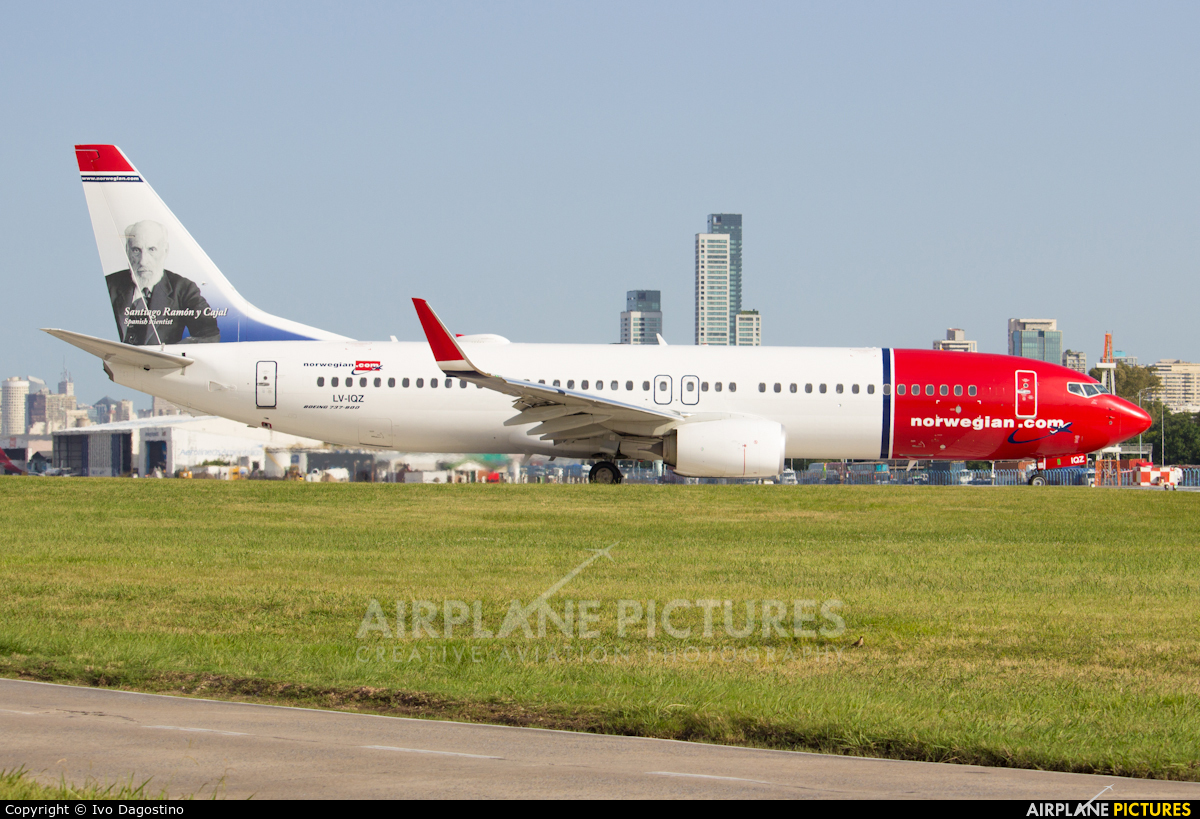 Norwegian Argentina LV-IQZ aircraft at Buenos Aires - Jorge Newbery