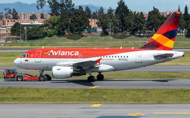 N593EL - Avianca Airbus A318
