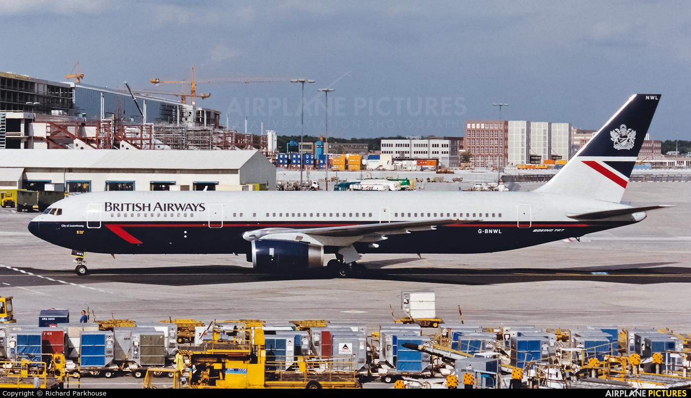 British Airways G-BNWL aircraft at Frankfurt