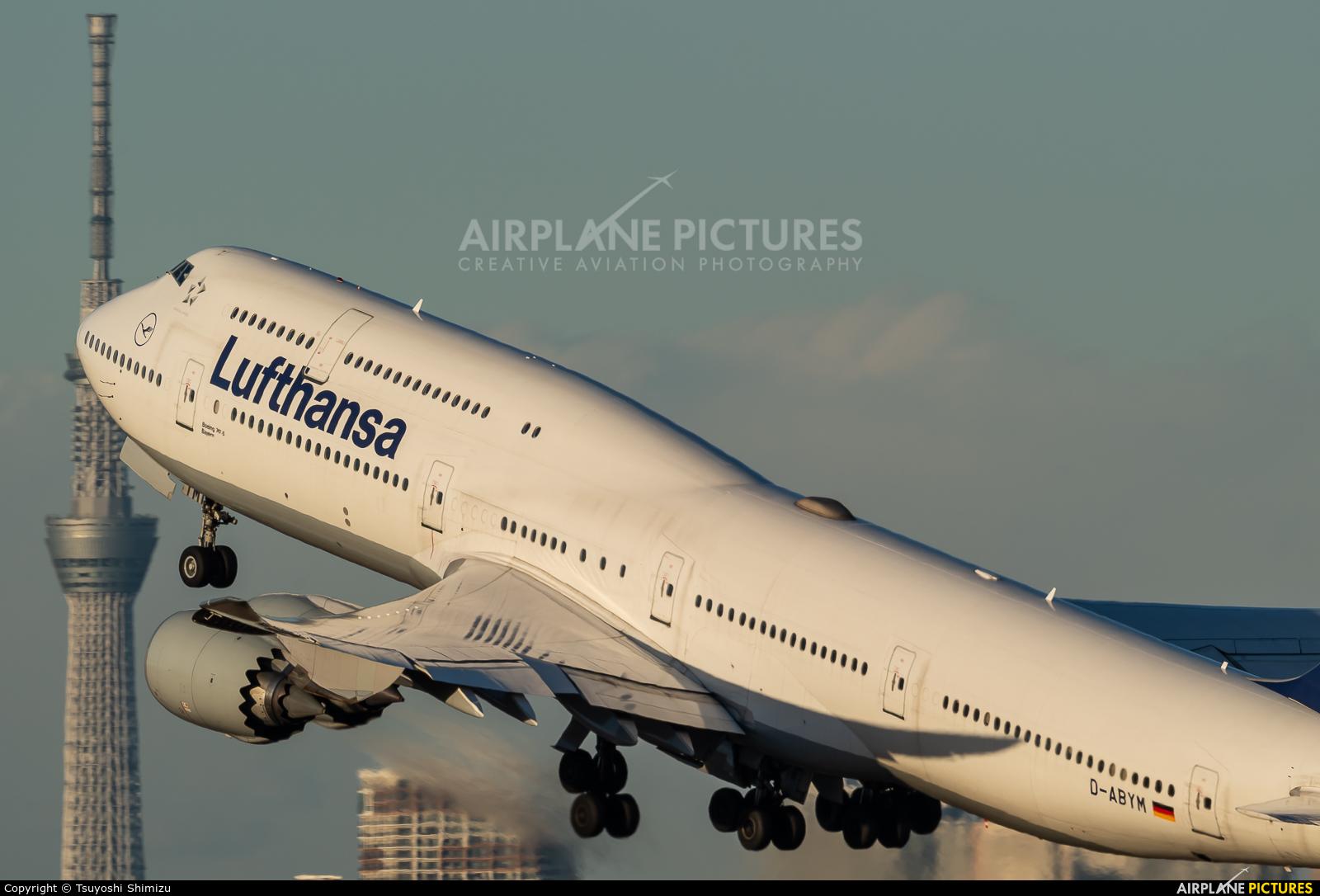 Lufthansa D-ABYM aircraft at Tokyo - Haneda Intl