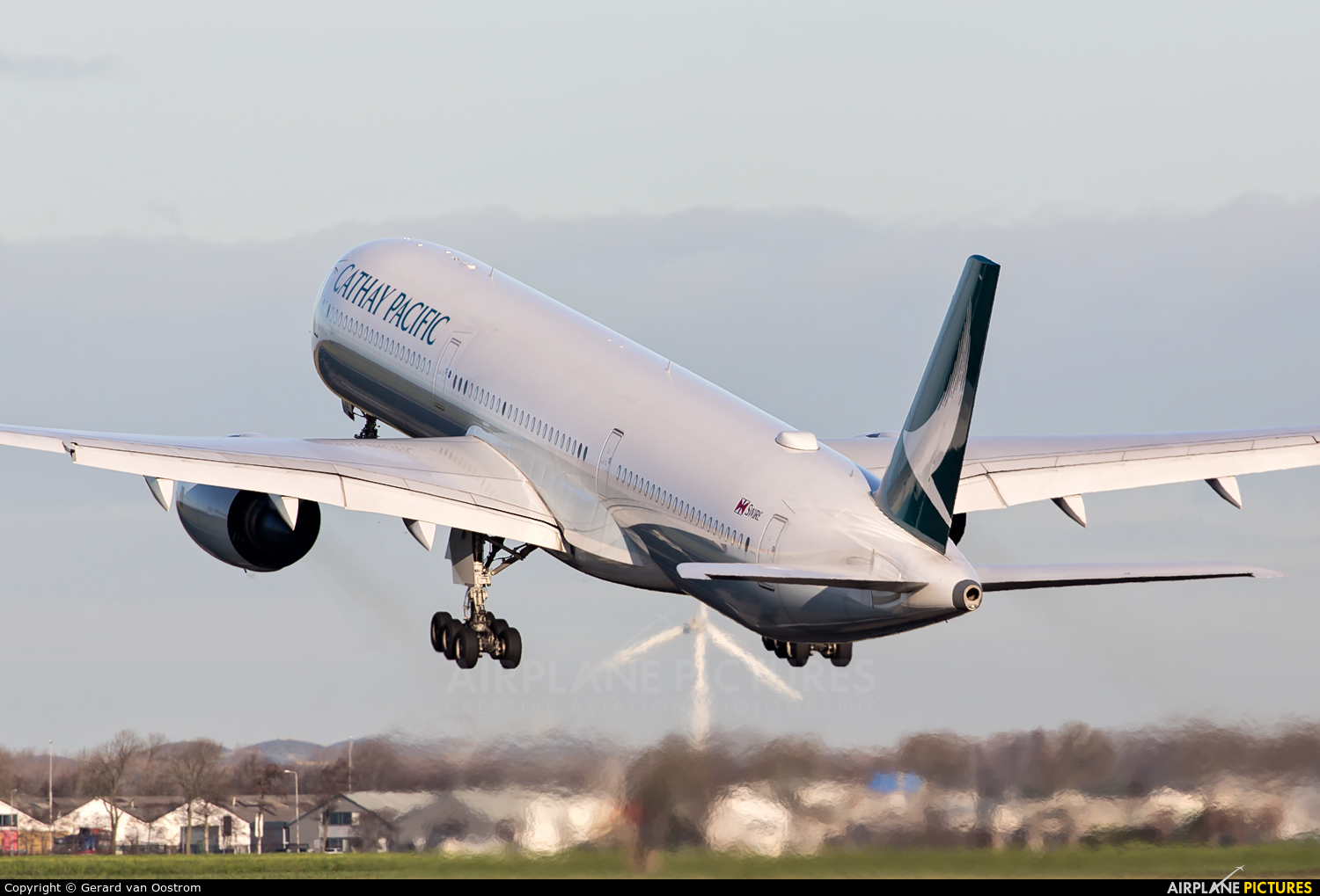 Cathay Pacific B-LXA aircraft at Amsterdam - Schiphol
