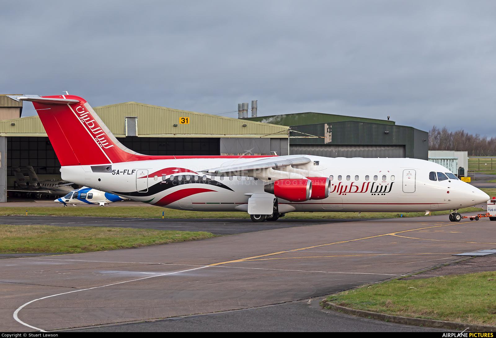 Air Libya 5A-FLF aircraft at East Midlands