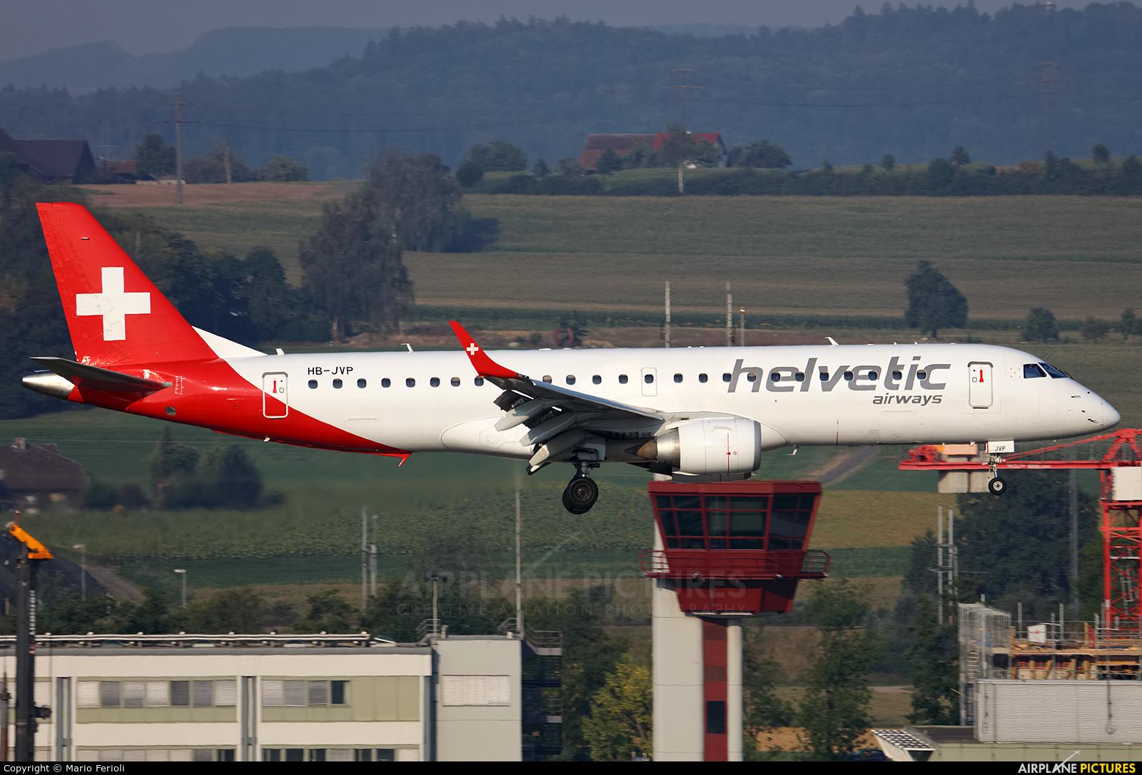 Helvetic Airways HB-JVP aircraft at Zurich