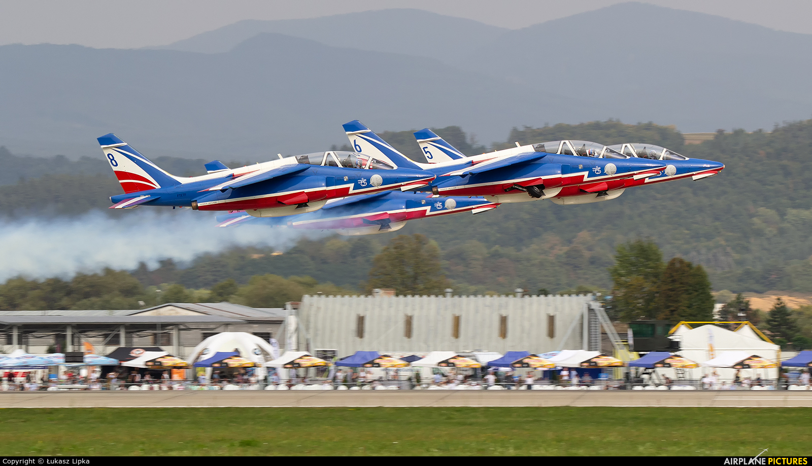"France - Air Force ""Patrouille de France"" E45 aircraft at Sliač"