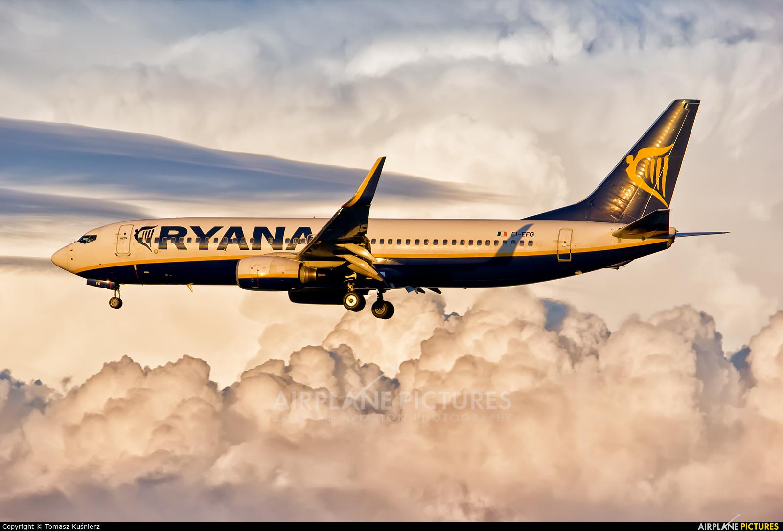 Ryanair EI-EFG aircraft at Corfu - Ioannis Kapodistrias