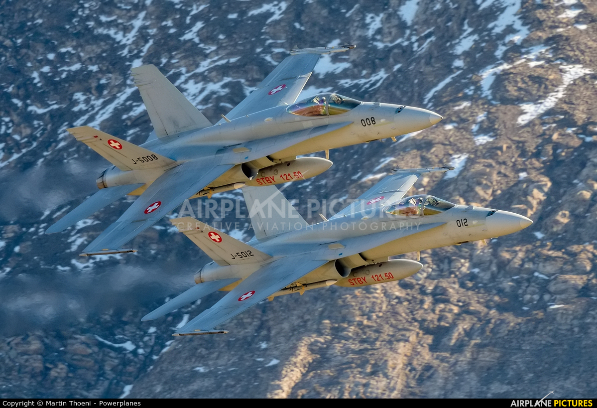 Switzerland - Air Force J-5008 aircraft at Axalp - Ebenfluh Range