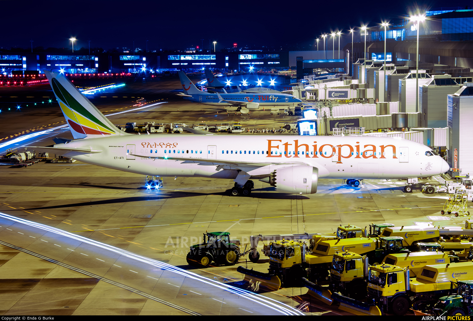 Ethiopian Airlines ET-ATI aircraft at Manchester