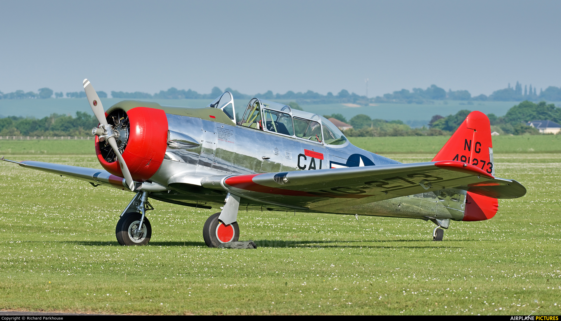 Private G-CJWE aircraft at Duxford