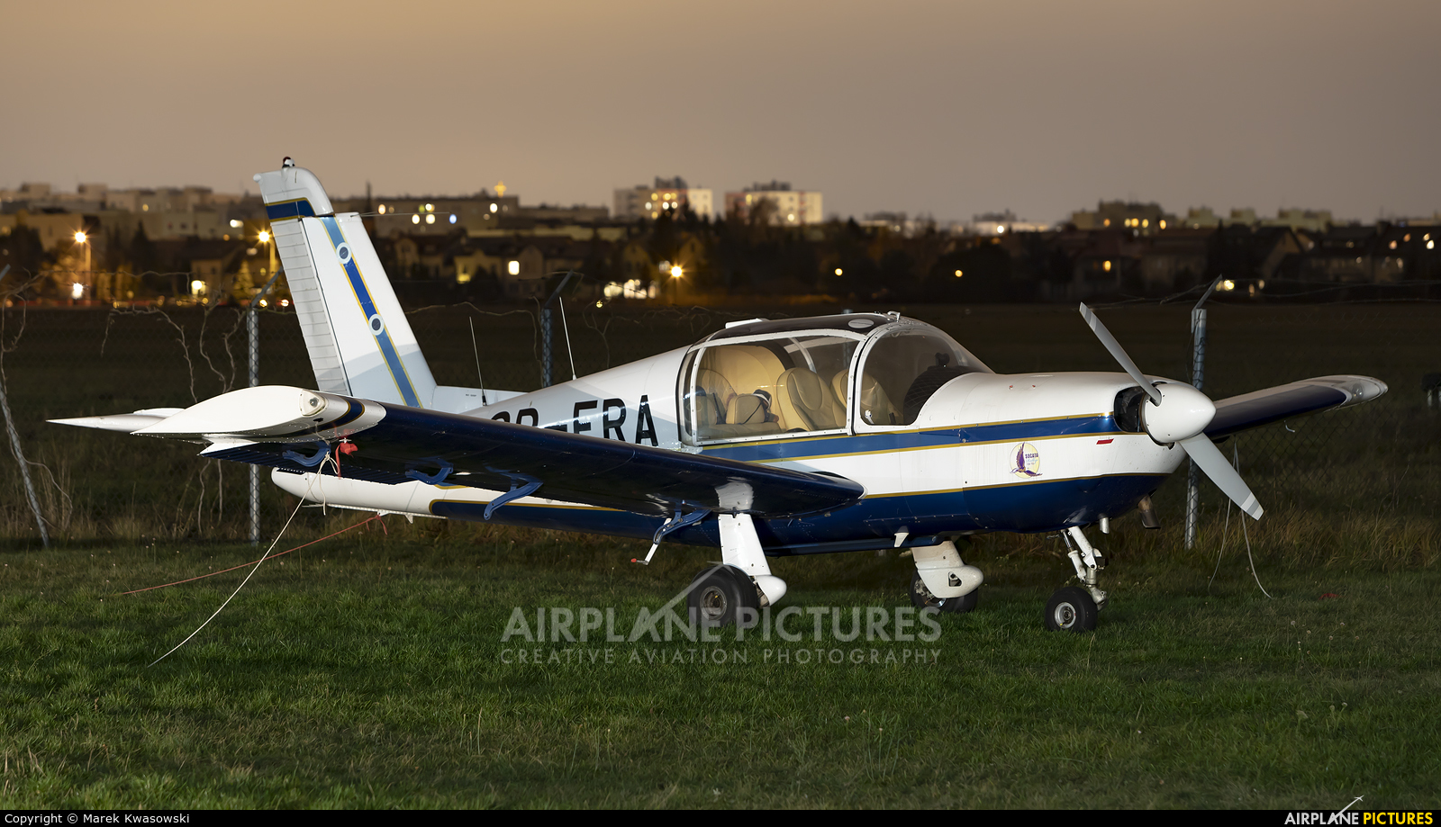 Private SP-FRA aircraft at Warsaw - Babice