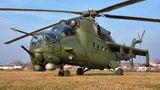 Poland - Army Mil Mi-24V 740 at Gliwice airport