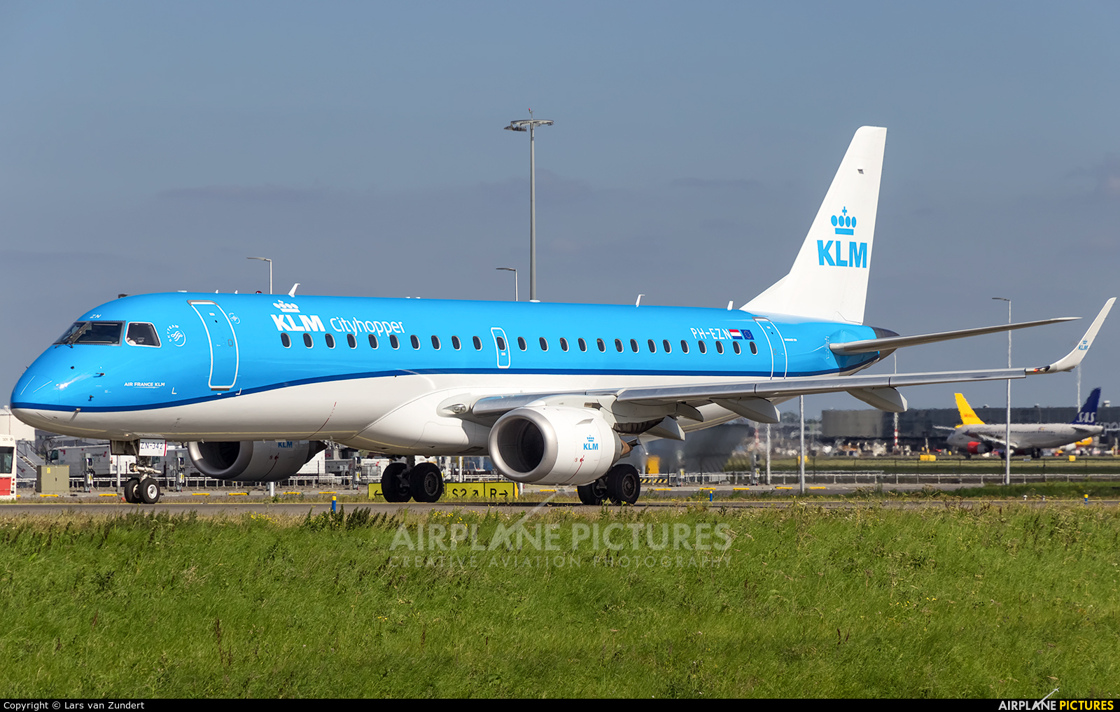 KLM Cityhopper PH-EZN aircraft at Amsterdam - Schiphol