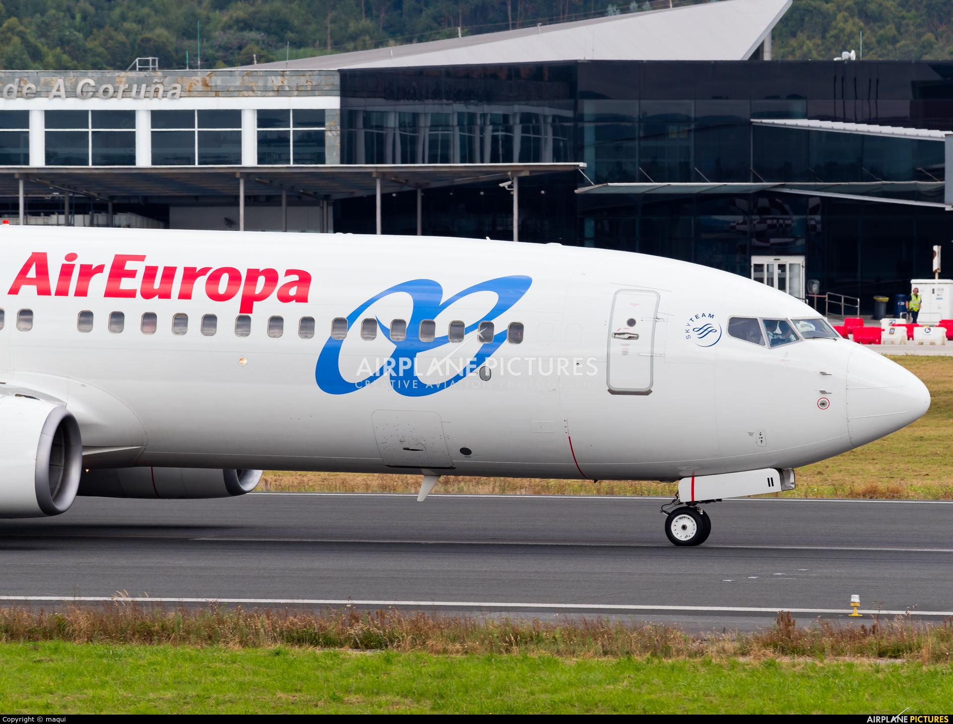 Air Europa EC-III aircraft at La Coruña