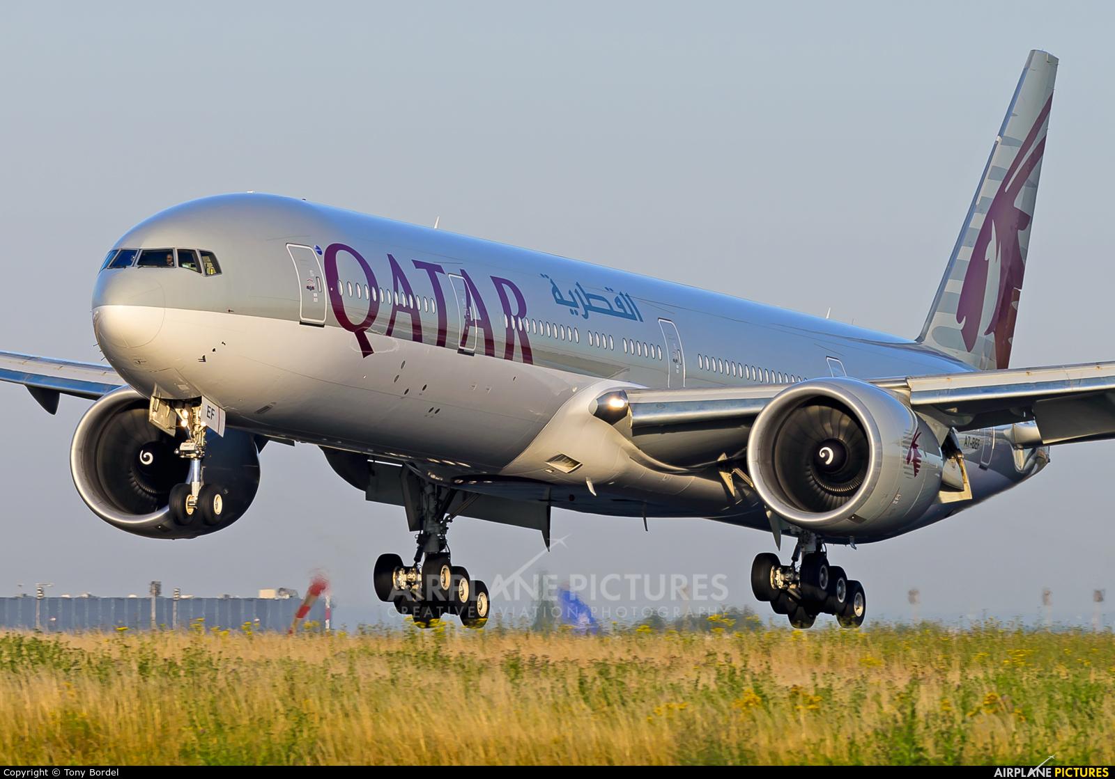 Qatar Airways A7-BEF aircraft at Paris - Charles de Gaulle