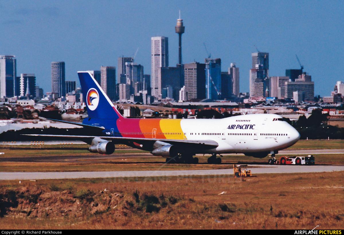 Air Pacific VH-EBB aircraft at Sydney - Kingsford Smith Intl, NSW