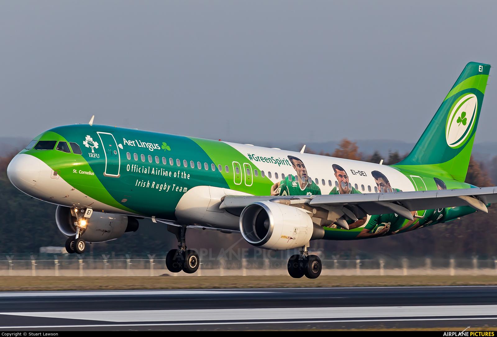Aer Lingus EI-DEI aircraft at Brussels - Zaventem