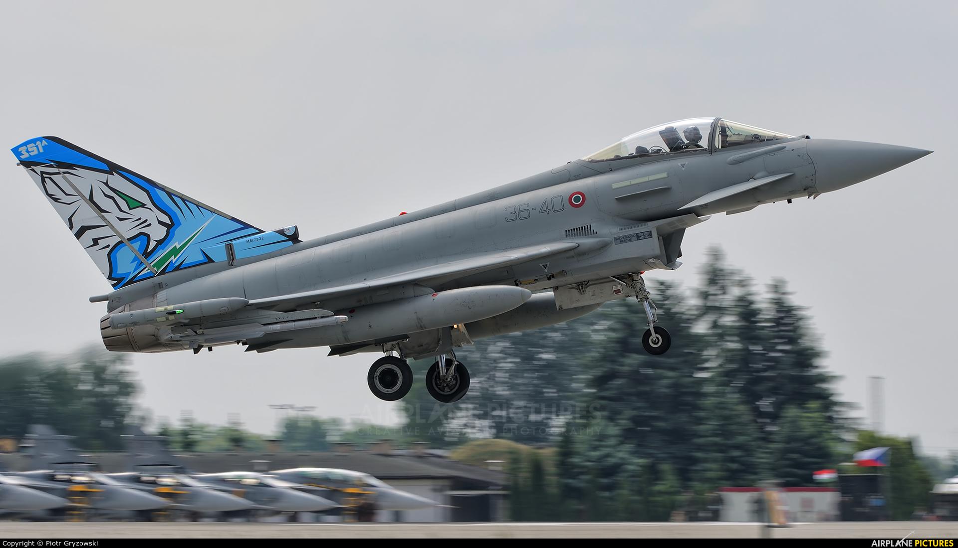 Italy - Air Force MM7322 aircraft at Poznań - Krzesiny