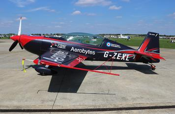 "G-ZEXL - 2 Excel Aviation ""The Blades Aerobatic Team"" Extra 300L, LC, LP series"