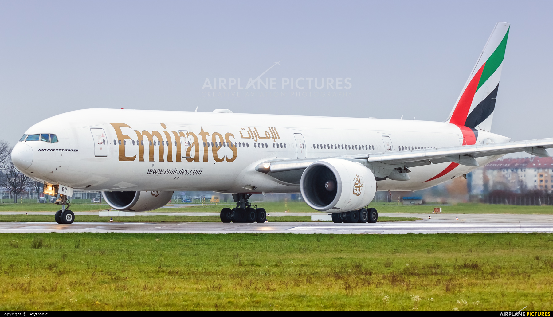 Emirates Airlines A6-EGY aircraft at Zagreb