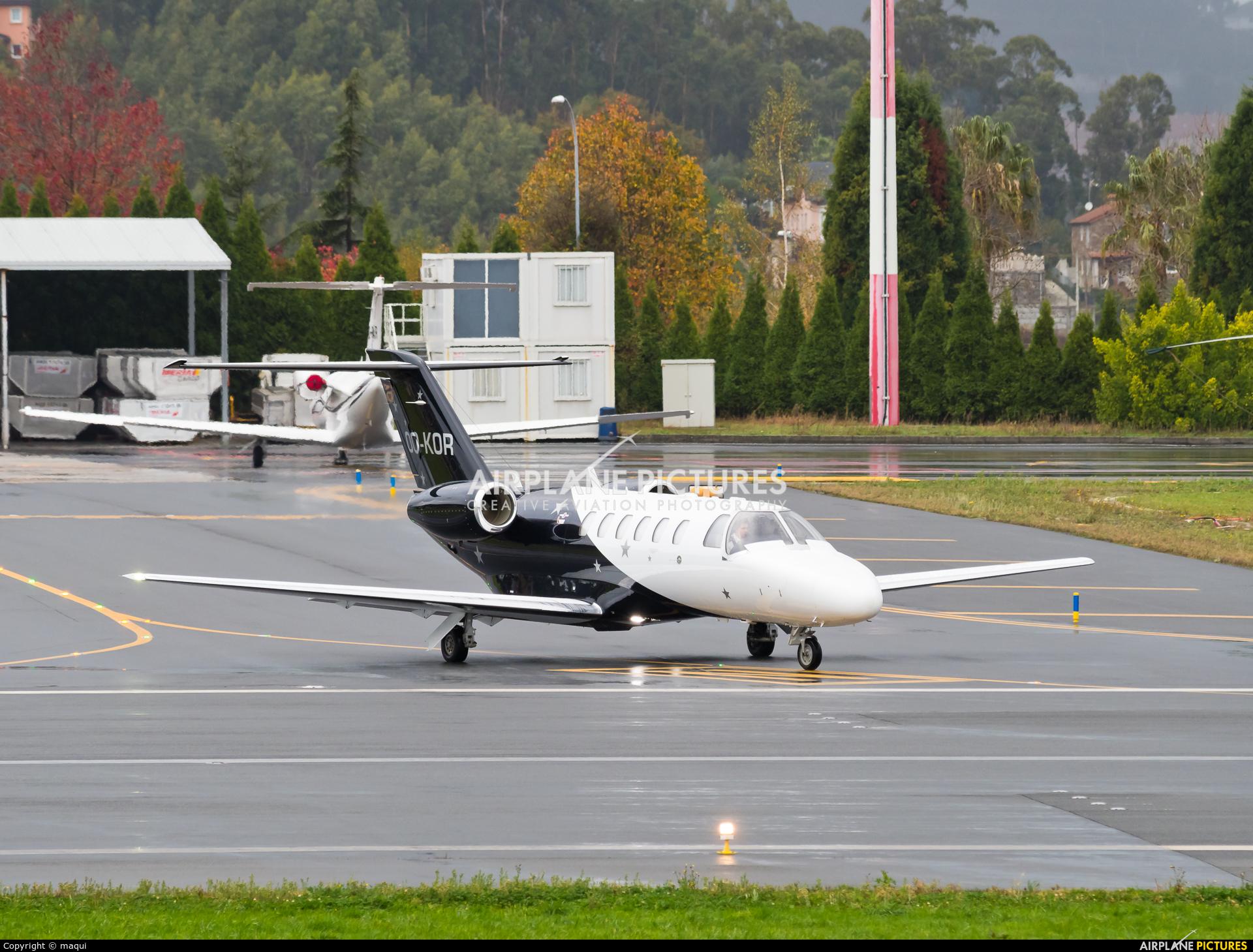 Abelag Aviation OO-KOR aircraft at La Coruña