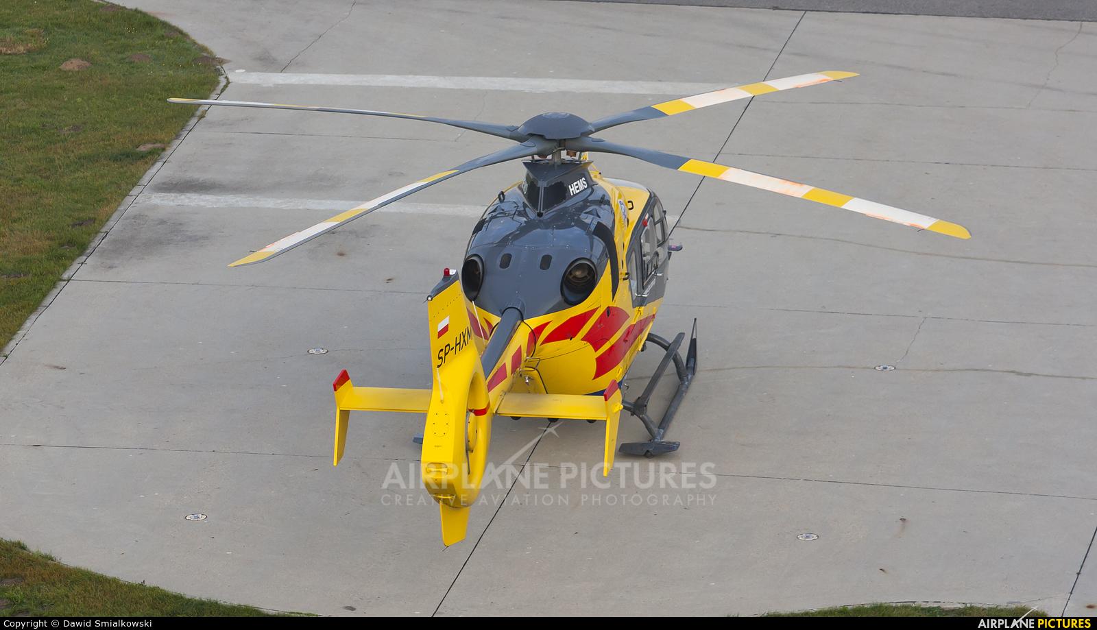 Polish Medical Air Rescue - Lotnicze Pogotowie Ratunkowe SP-HXM aircraft at Szczecin - Goleniów