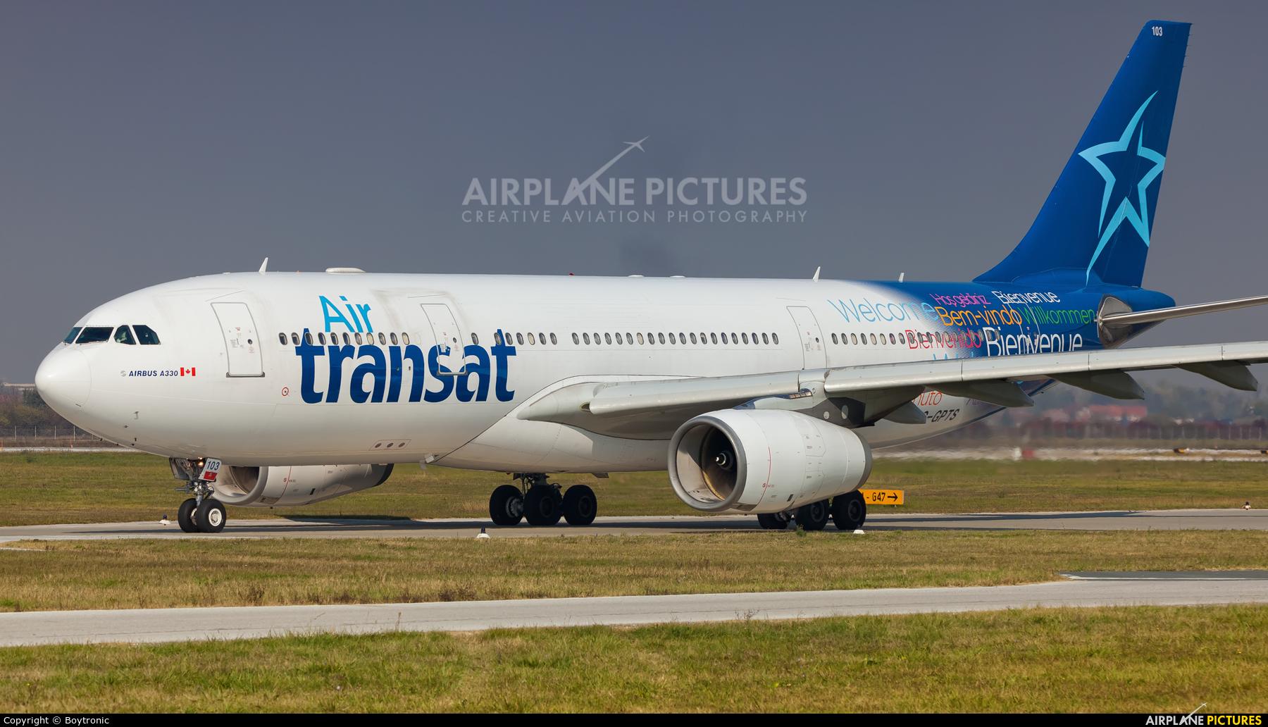 Air Transat C-GPTS aircraft at Zagreb