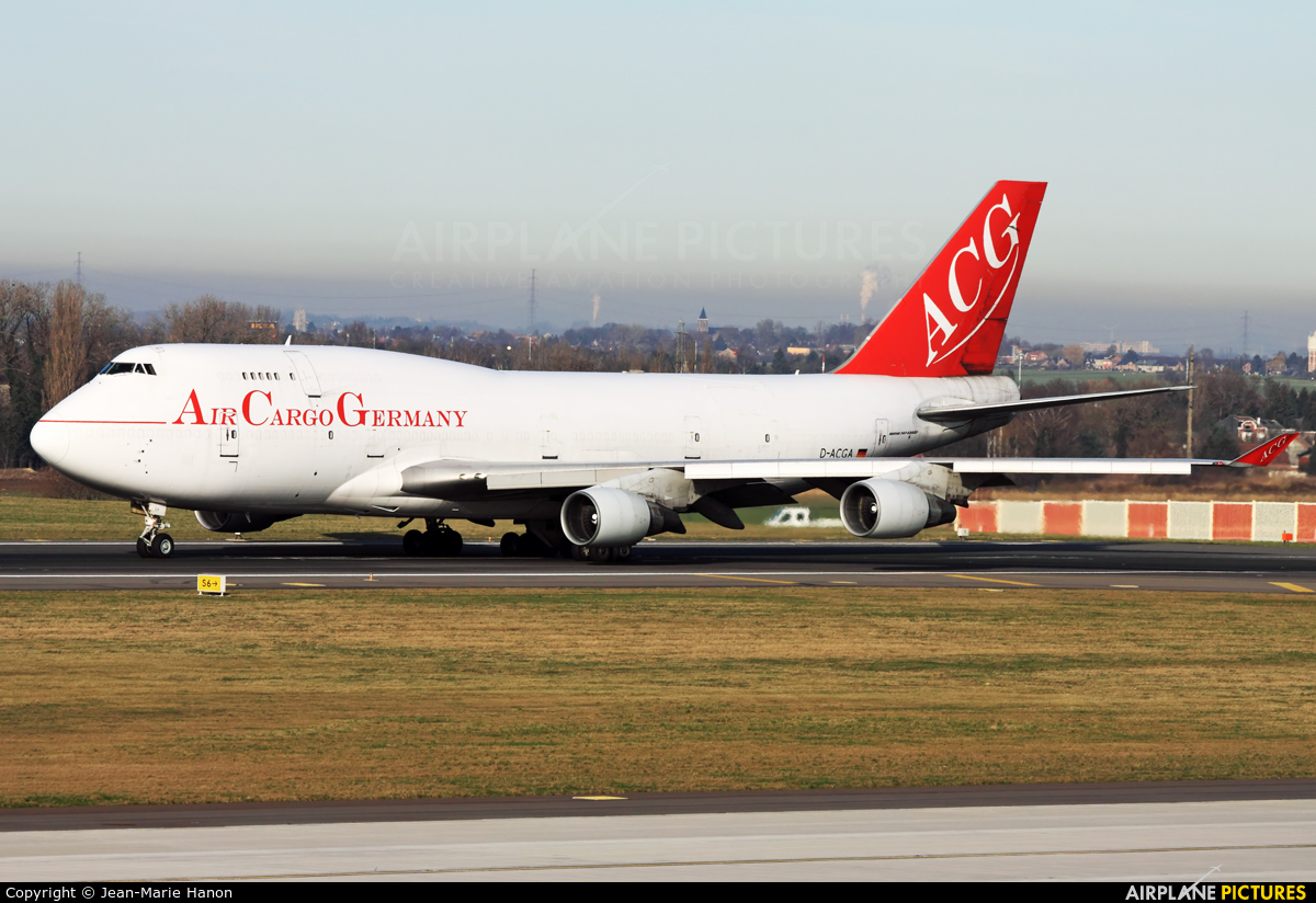 Air Cargo Germany D-ACGA aircraft at Liège-Bierset