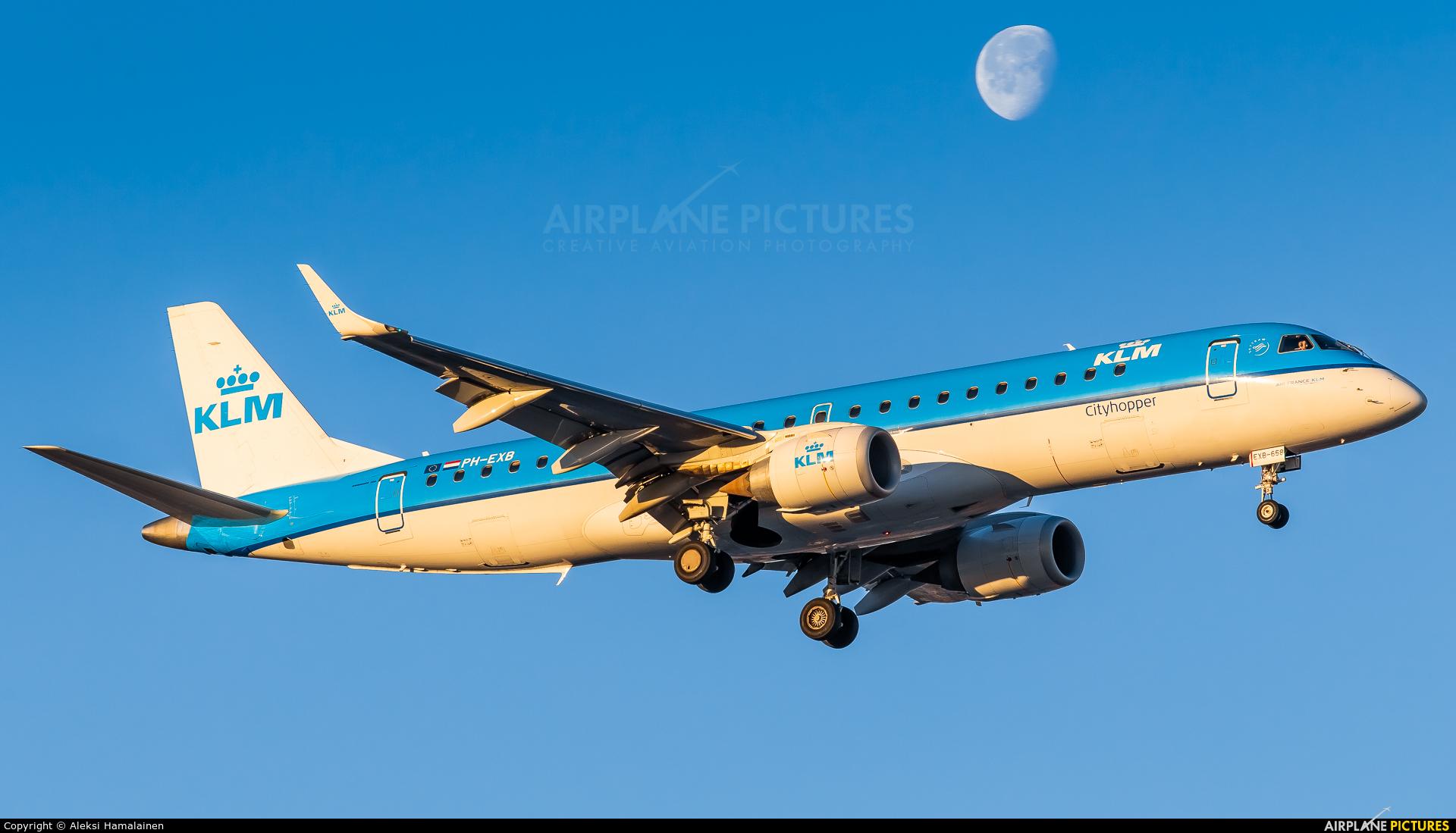 KLM Cityhopper PH-EXB aircraft at Helsinki - Vantaa