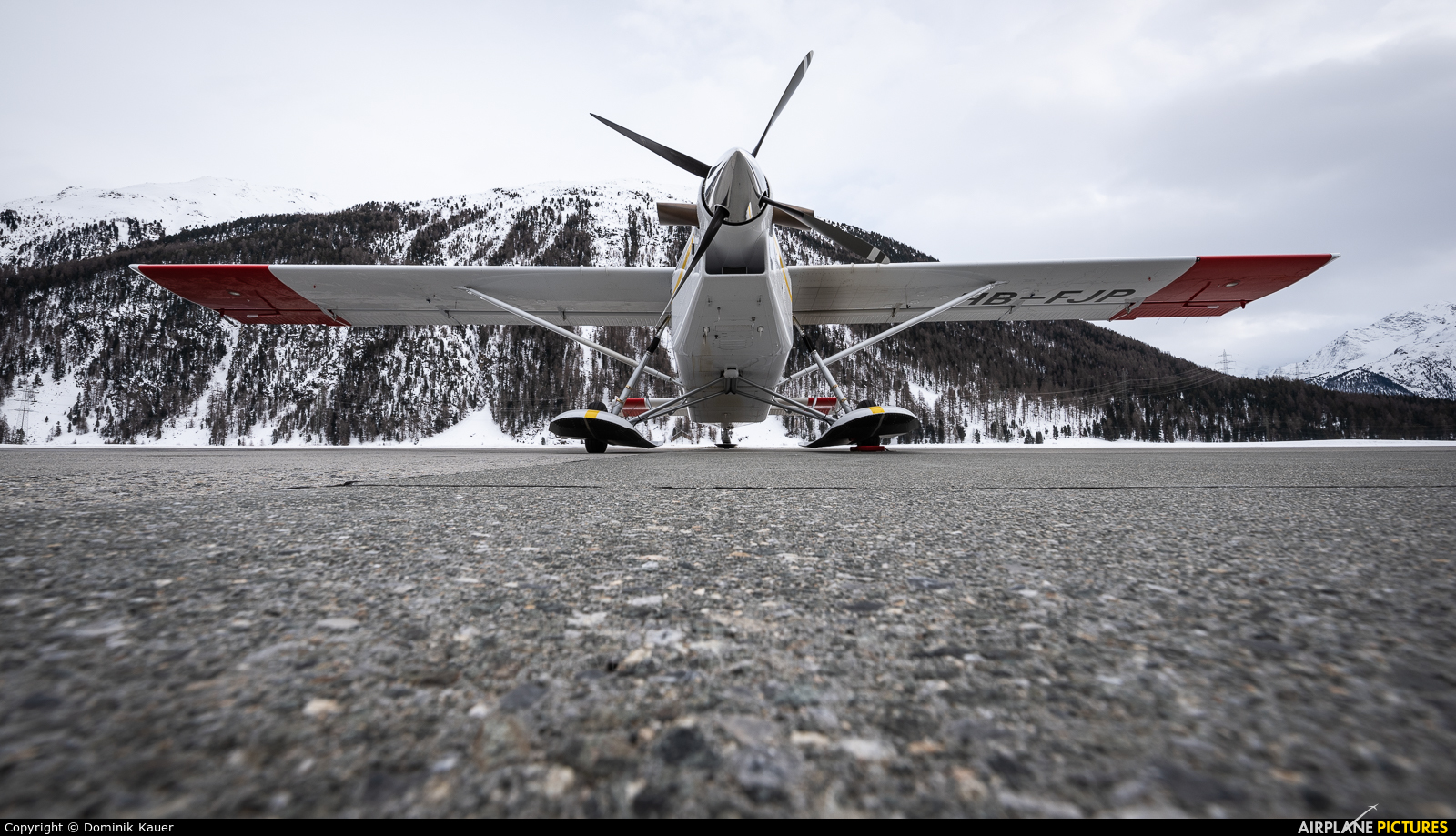Private HB-FJP aircraft at Samedan - Engadin