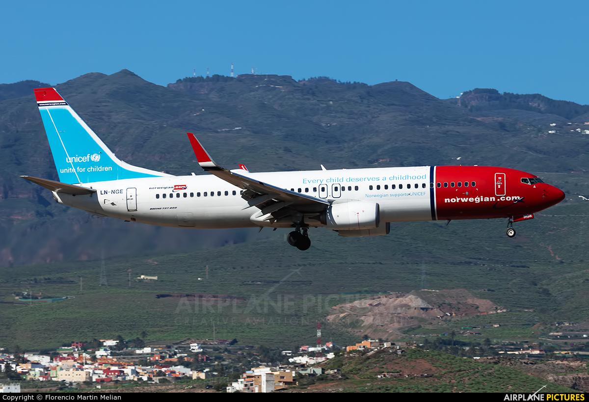 Norwegian Air Shuttle LN-NGE aircraft at Aeropuerto de Gran Canaria