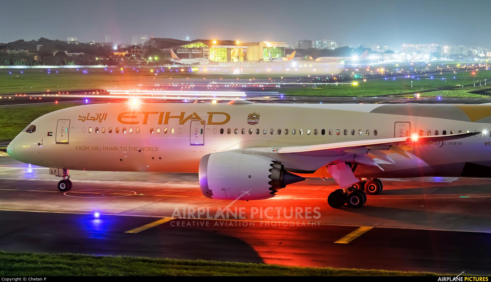 Etihad Airways A6-BLT aircraft at Mumbai - Chhatrapati Shivaji Intl