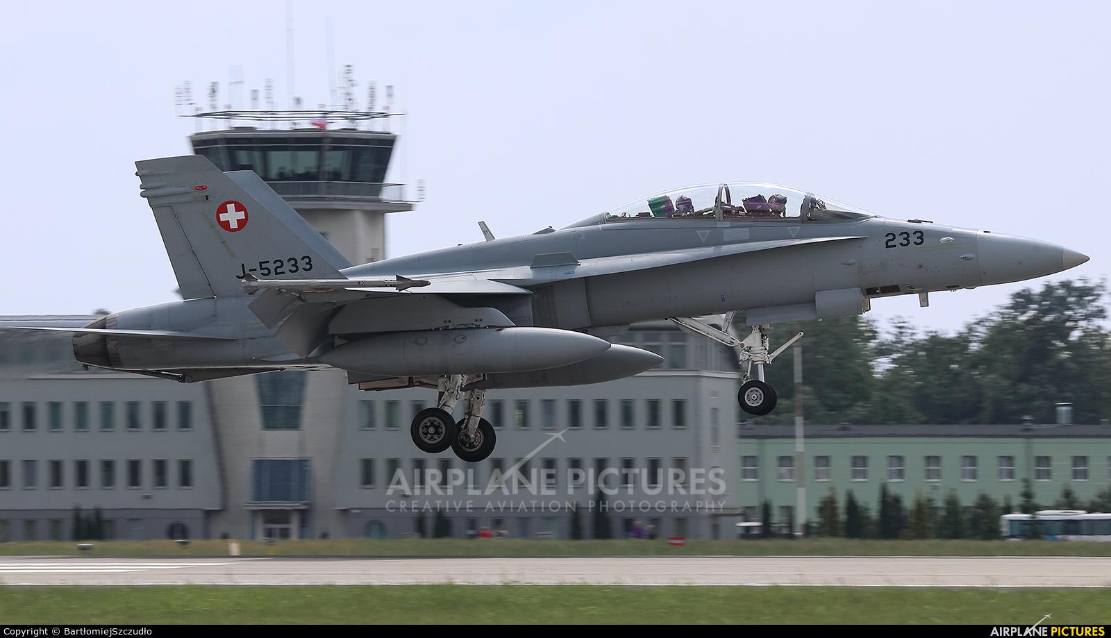 Switzerland - Air Force J-5233 aircraft at Poznań - Krzesiny