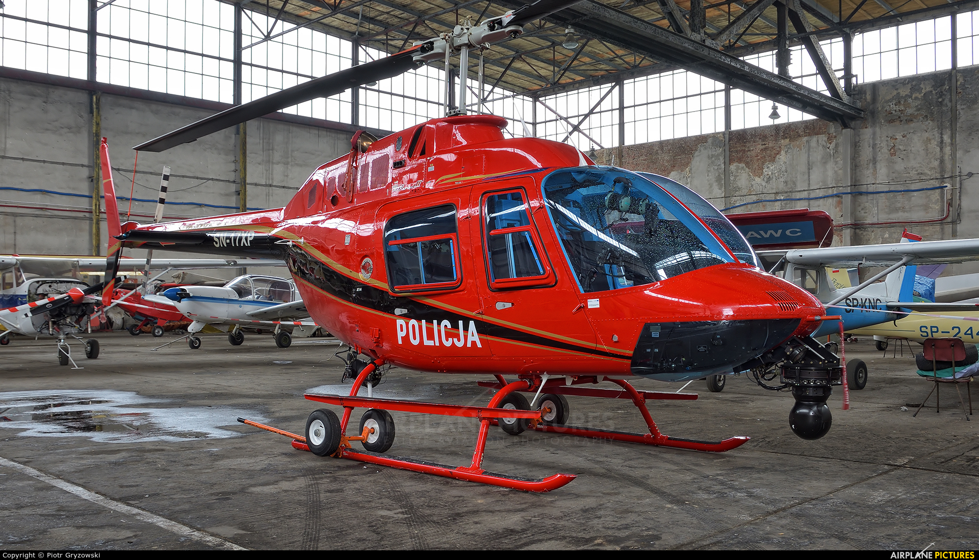Poland - Police SN-17XP aircraft at Gliwice