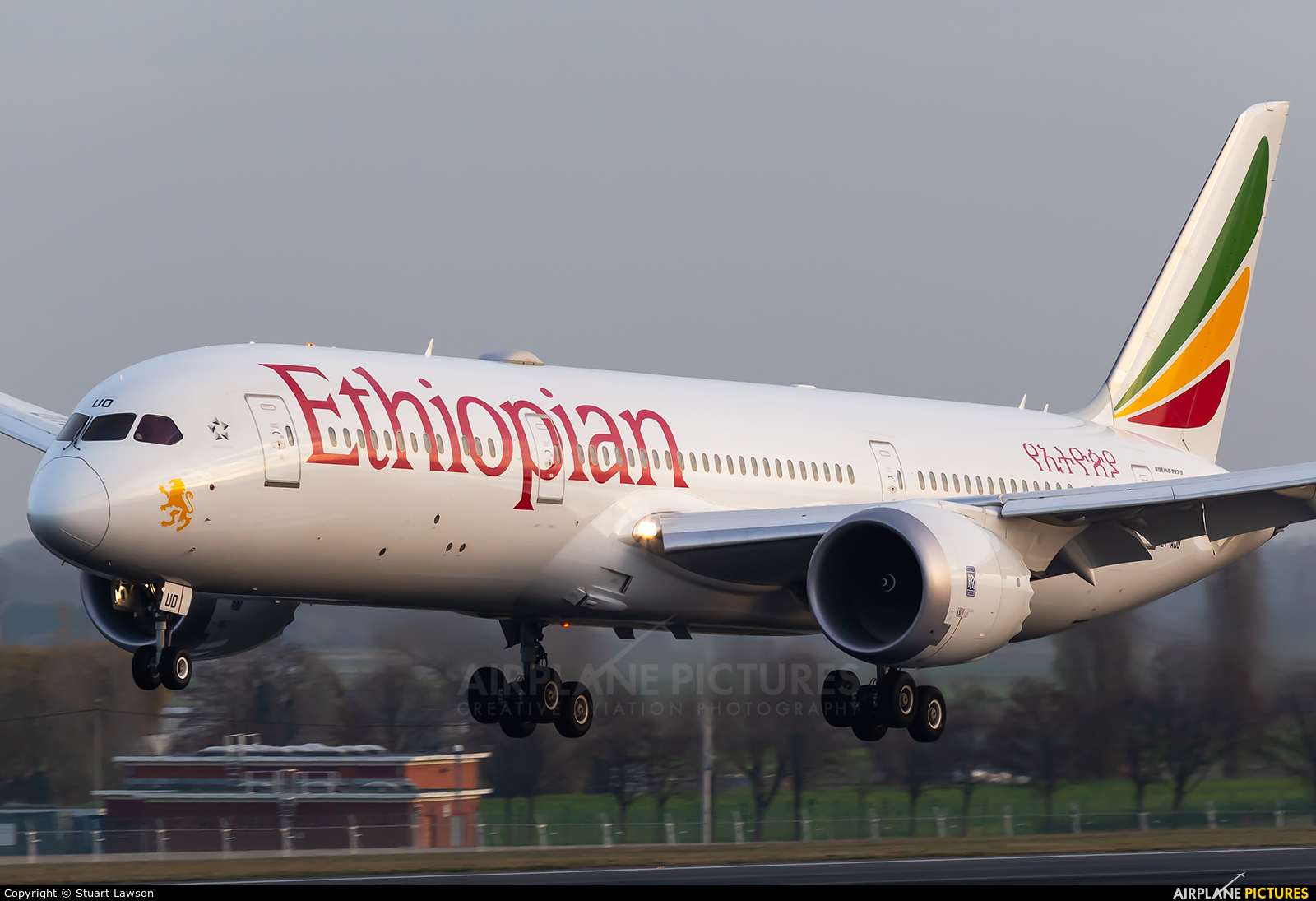 Ethiopian Airlines ET-AUO aircraft at Brussels - Zaventem