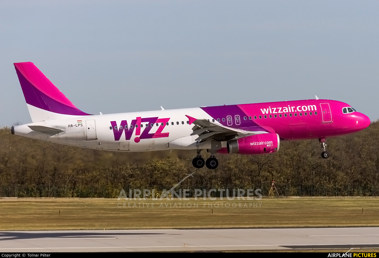 Wizz Air HA-LPS aircraft at Budapest Ferenc Liszt International Airport