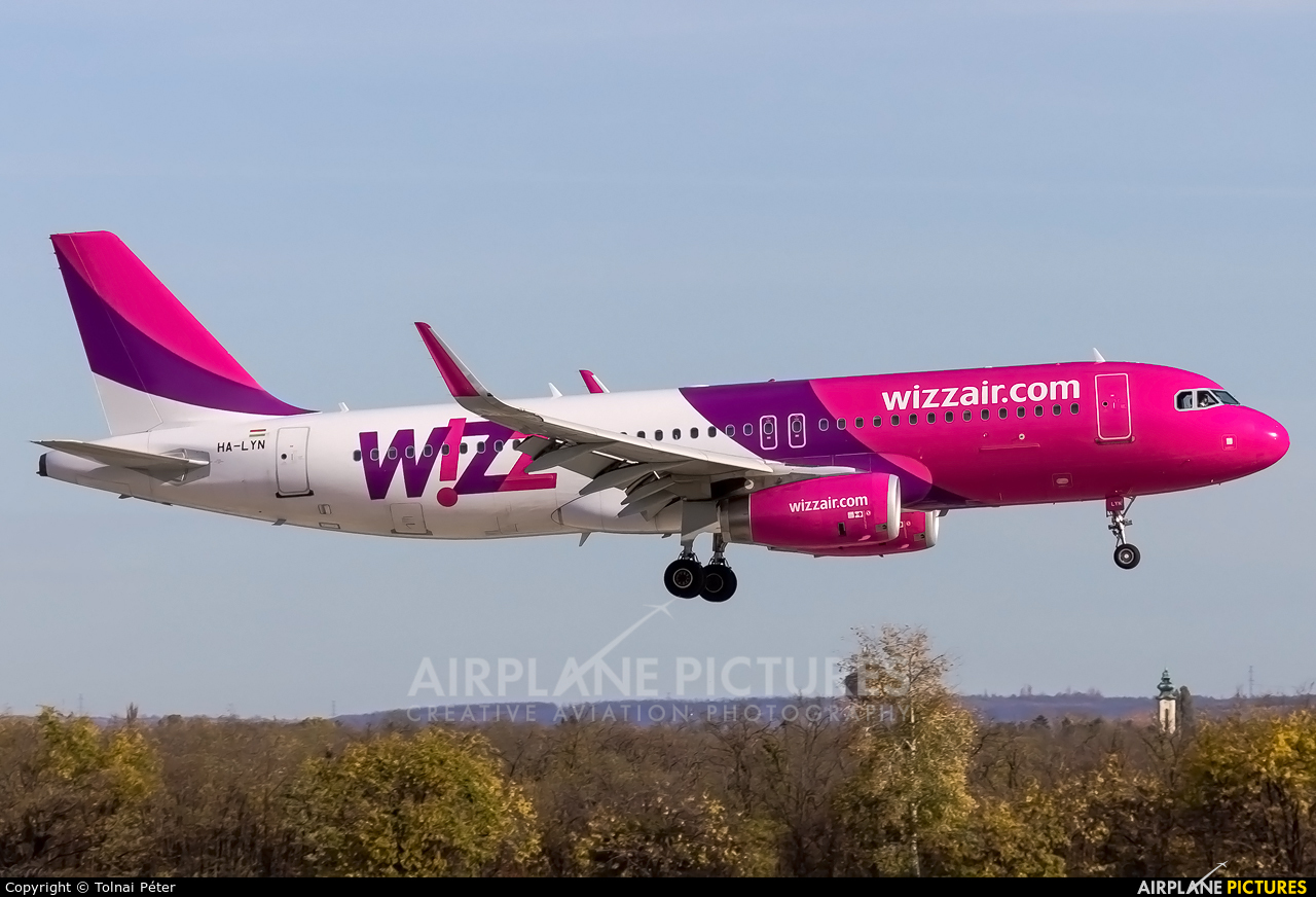 Wizz Air HA-LYN aircraft at Budapest Ferenc Liszt International Airport