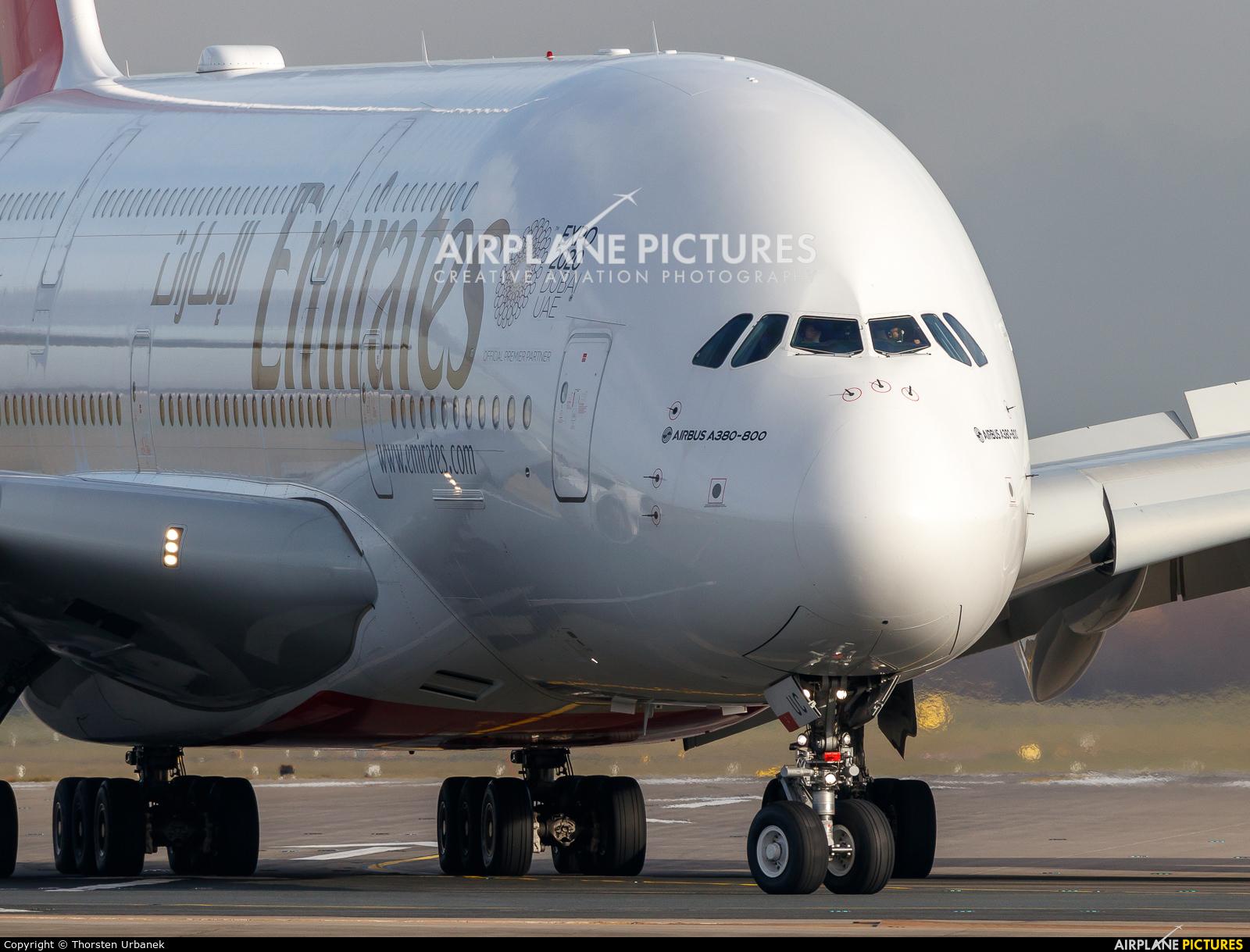 Emirates Airlines A6-EUC aircraft at Düsseldorf