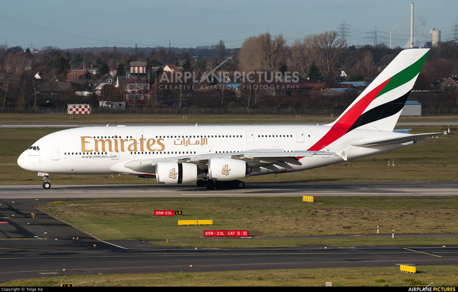 Emirates Airlines A6-EDX aircraft at Düsseldorf