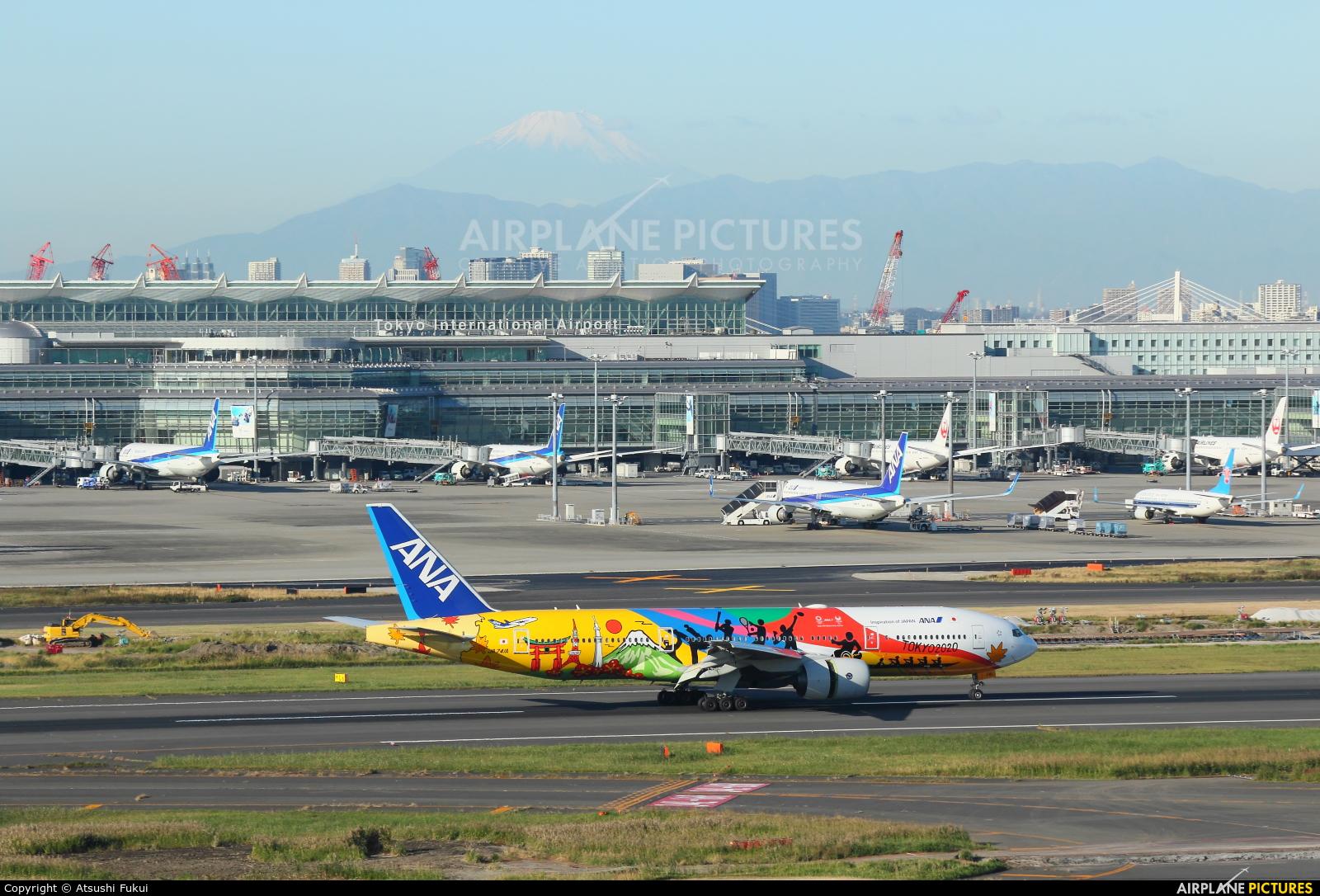 ANA - All Nippon Airways JA741A aircraft at Tokyo - Haneda Intl