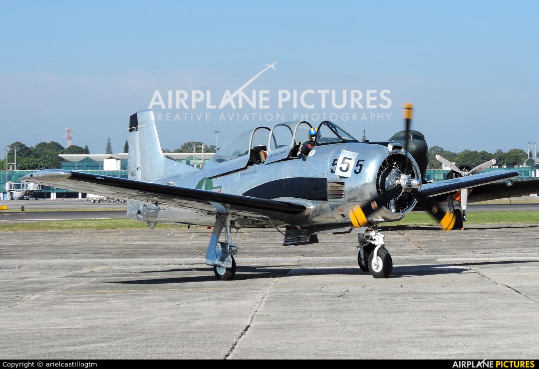 Private N55500 aircraft at Guatemala - La Aurora