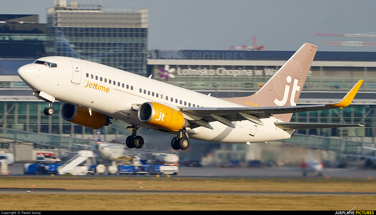 Jet Time OY-JTS aircraft at Warsaw - Frederic Chopin