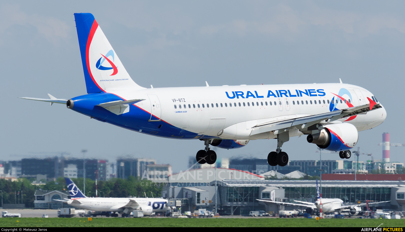 Ural Airlines VP-BTZ aircraft at Warsaw - Frederic Chopin