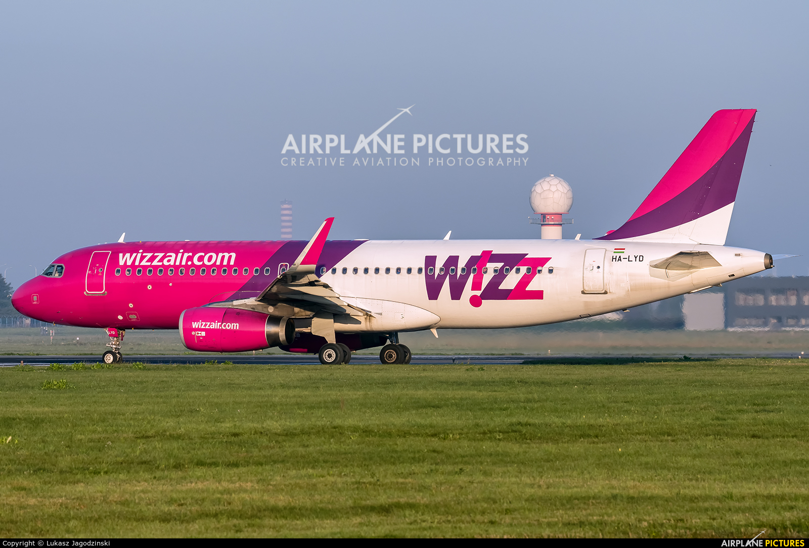 Wizz Air HA-LYD aircraft at Warsaw - Frederic Chopin