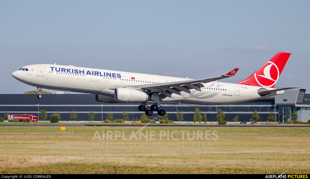 Turkish Airlines TC-JNK aircraft at Amsterdam - Schiphol