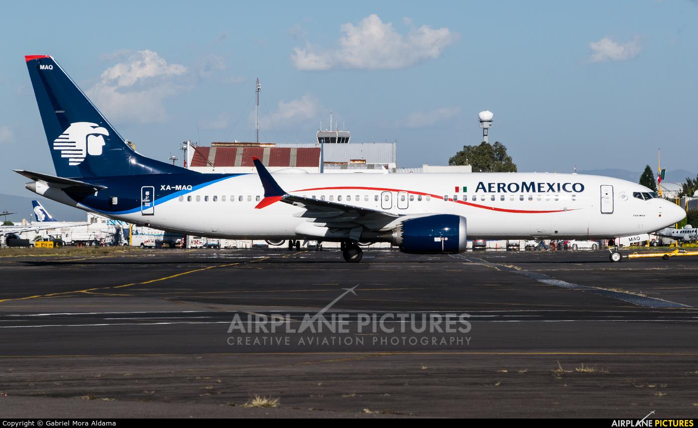 Aeromexico XA-MAQ aircraft at Mexico City - Licenciado Benito Juarez Intl