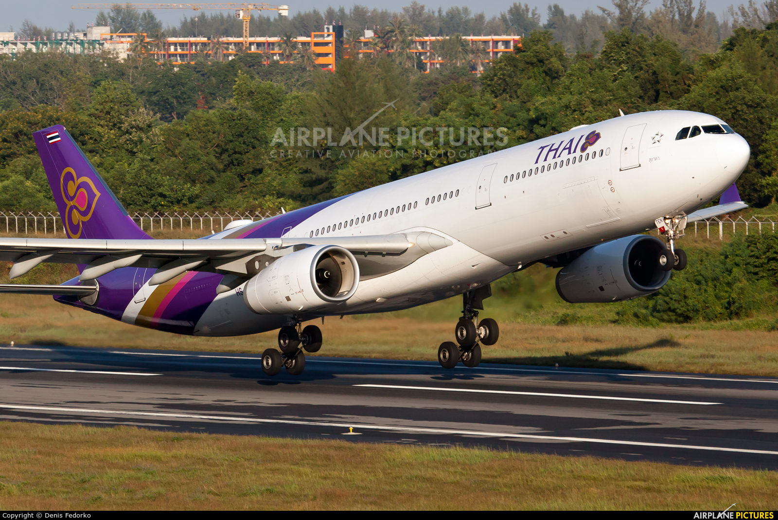 Thai Airways HS-TEN aircraft at Phuket