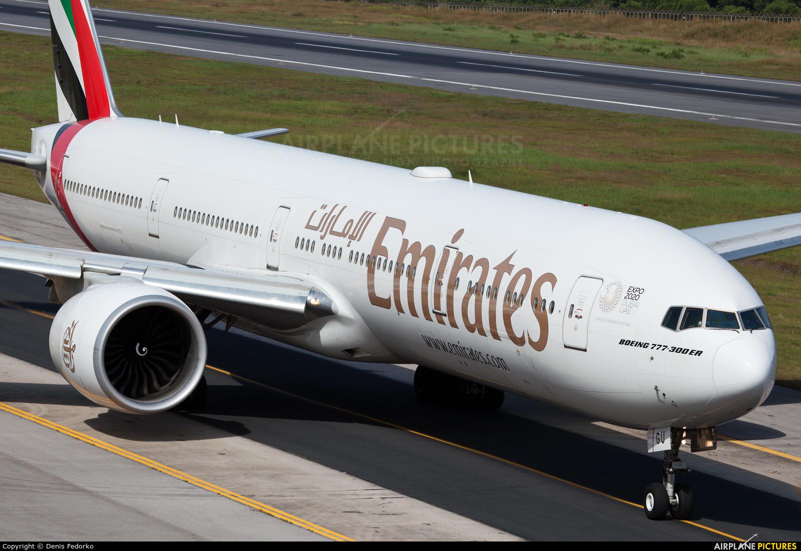 Emirates Airlines A6-EGU aircraft at Phuket