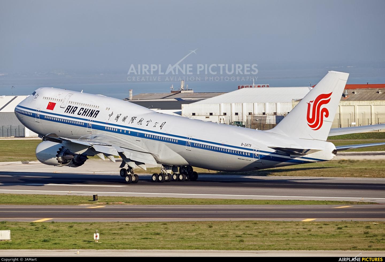Air China B-2479 aircraft at Lisbon