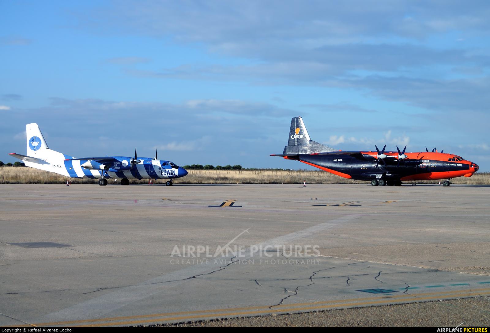 Cavok Air UR-CKL aircraft at Valladolid - Villanubla
