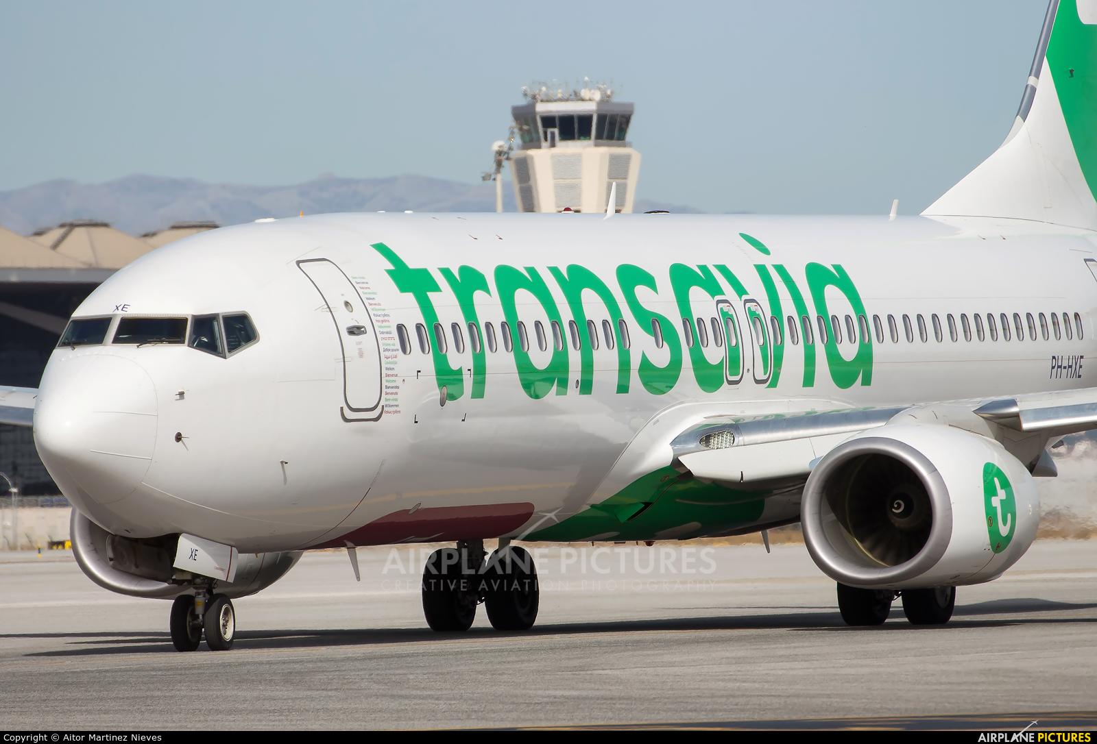 Transavia PH-HXE aircraft at Málaga